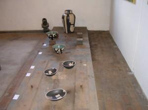 Krukker og skåle udstillet på Lys over Lolland 2005.