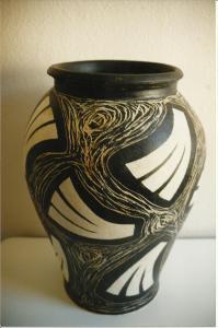 Krukke, stentøj, 1999, højde 52 cm.