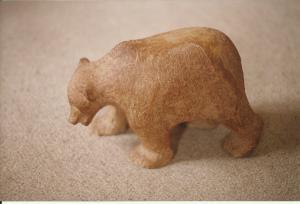 Skulptur, stentøj, 1993, ca 20 cm høj.