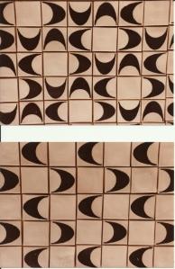 Keramikfliser, 1976, porcelæn.