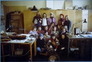 1. klasse, keramiklinjen, Skolen for Brugskunst 1975