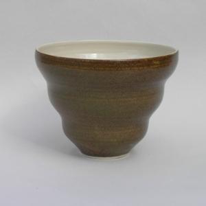 Skål. stentøy med askeglasur, 2007, diameter 22 cm.