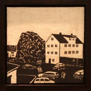 Stamsund, steintøy, 2010, 26 cm x 26 cm.