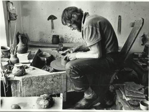 Håreik ved dreieskiva ca 1975