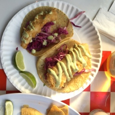 Fish taco på Tacombi
