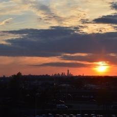 Sidste glimt af Manhattan skyline fra JFK Airport